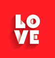 love with shadow vector image