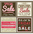 christmas banners with sale offer vector image