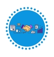 Business Partners Icon Flat Design vector image