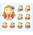 Menu icons girls only vector