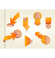 Set of orange labels for wide variety of use vector image