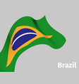 background with brazil wavy flag vector image