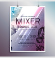 flyer poster template card with promotional vector image