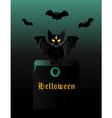 kitten Halloween vector image