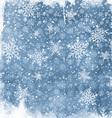 watercolor snowflake background 2410 vector image