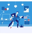 business partners man and vector image