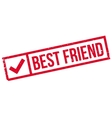 Best Friend rubber stamp vector image