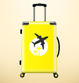 Travel bag with sticker vector image vector image