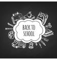 Back to school frame design vector image