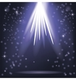 Blue Rays of Lights vector image vector image