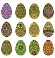 Easter egg design set vector image