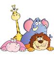 Four Wildlife Animals vector image vector image