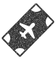 Boarding Pass Icon Rubber Stamp vector image
