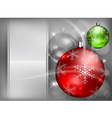 christmas background baubles color 4 10 v vector image