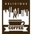 delicious coffee vector image
