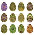 Easter egg design set vector image