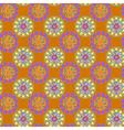 Fractal mandala seamless pattern on orange vector image
