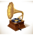 Gramophone print template vector image