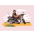 Police officer on motorcycle vector image