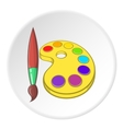 Watercolor and brush icon cartoon style vector image