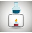burner tube lab chemistry vector image