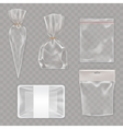 Collection mock up packaging for food and snack vector image