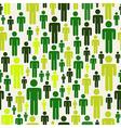 green social media pattern vector image vector image