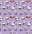 panda bear cude character different pose vector image