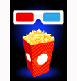 3D movie objects vector image