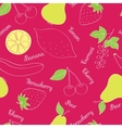 Vegetables and fruits pattern vector image