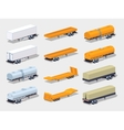 Collection of semitrailers vector image