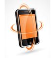 touchscreen cellphone vector image
