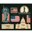 set of symbols of the United States of America vector image vector image