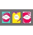 Art flyer brochure design template Book cover vector image