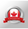 Canadas County design Maple leaf icon Seal stamp vector image