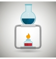 burner tube lab chemistry vector image