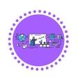Business Training Icon Flat Design vector image