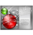 christmas background baubles color 4 10 SS v vector image