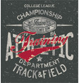 college track and field athletic training vector image