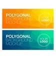 Horisontal polygonal banners vector image