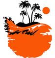Landscape of Tropical Banner vector image