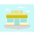 Pharmacy building vector image