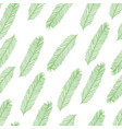 seamless pattern with christmas tree branch on vector image