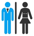 Toilet Persons Flat Icon vector image
