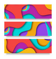 vertical banners with 3d abstract background with vector image
