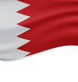 Waving flag of Bahrain isolated on white vector image