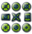 Wireless communication button vector image