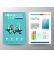 World map and pin social network flyer design vector image