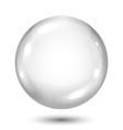 Big opaque gray sphere vector image