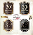 30 years Anniversary labels vector image